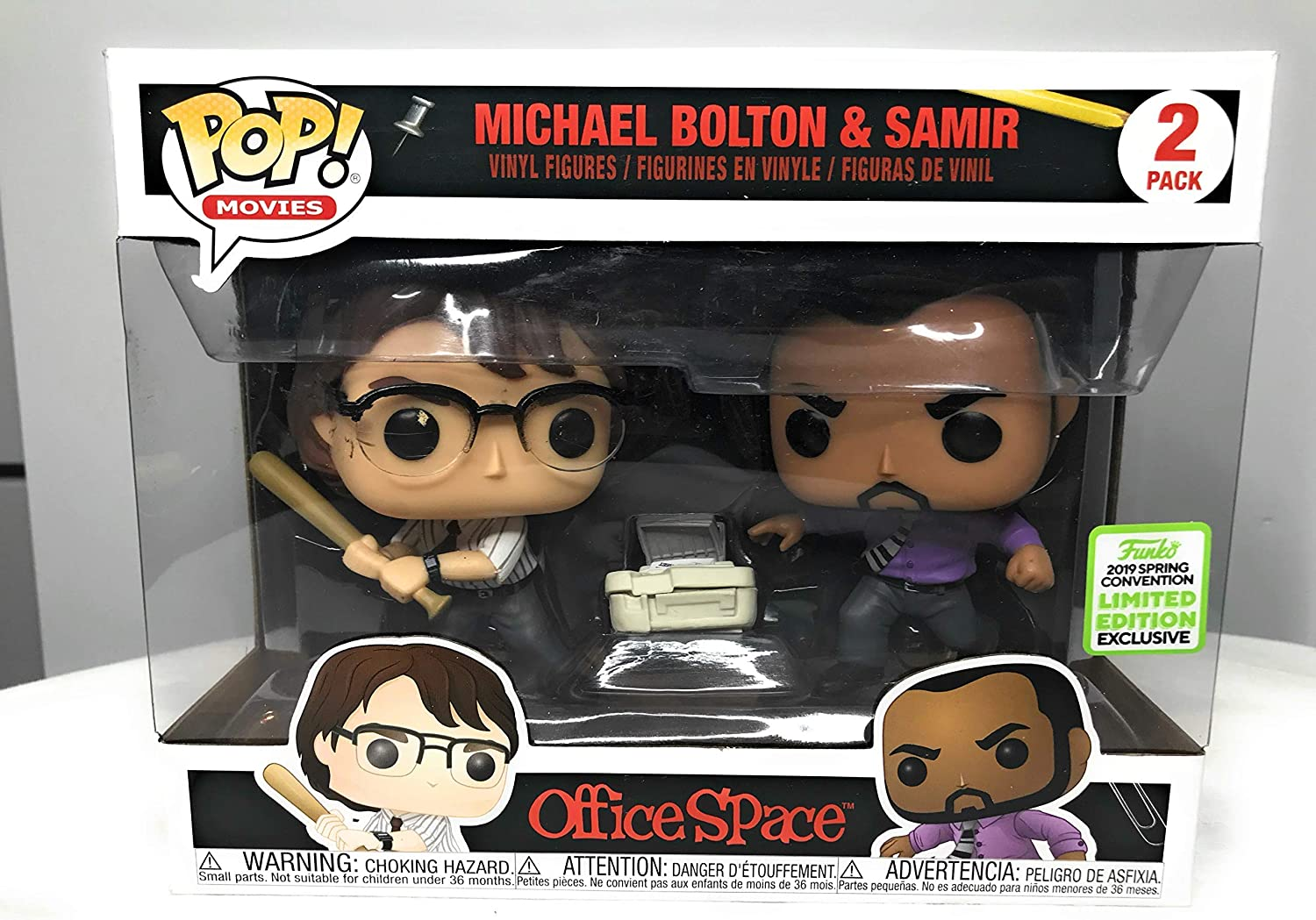 Funko POP! Movies: Office Space 2-Pack Michael Bolton & Samir Limited Edition Exclusive 2019 Spring Convention