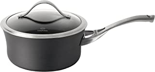 product image for Calphalon Sauce Pan Aluminum Nonstick Cookware, 2.5-quart, Black
