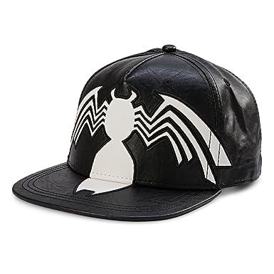 1760492fff5 Image Unavailable. Image not available for. Color  Venom Marvel Comics Faux  Leather Snapback Cap Hat