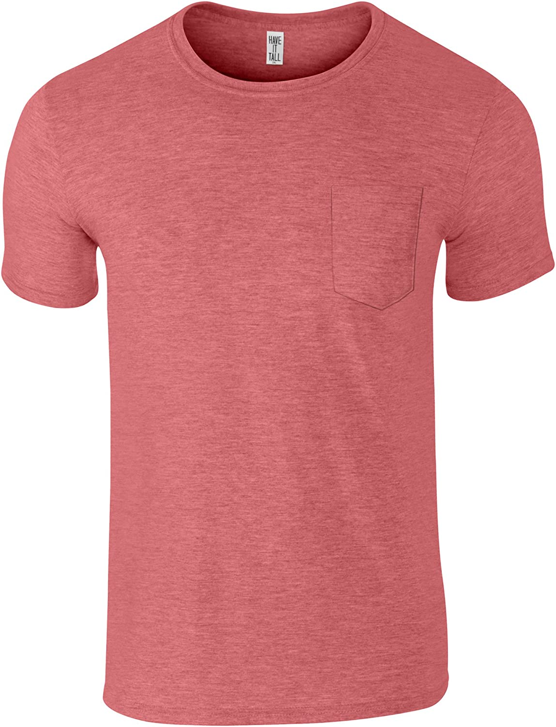 Have It Tall Mens Tall Pocket T Shirt Soft Blend Fabric