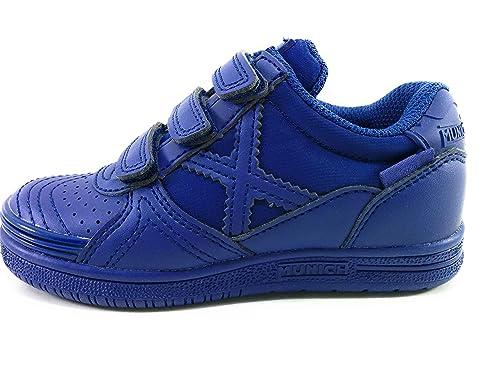 Munich Zapatilla Fútbol Sala Niño Azul Marino Nº26: Amazon.es: Zapatos y complementos