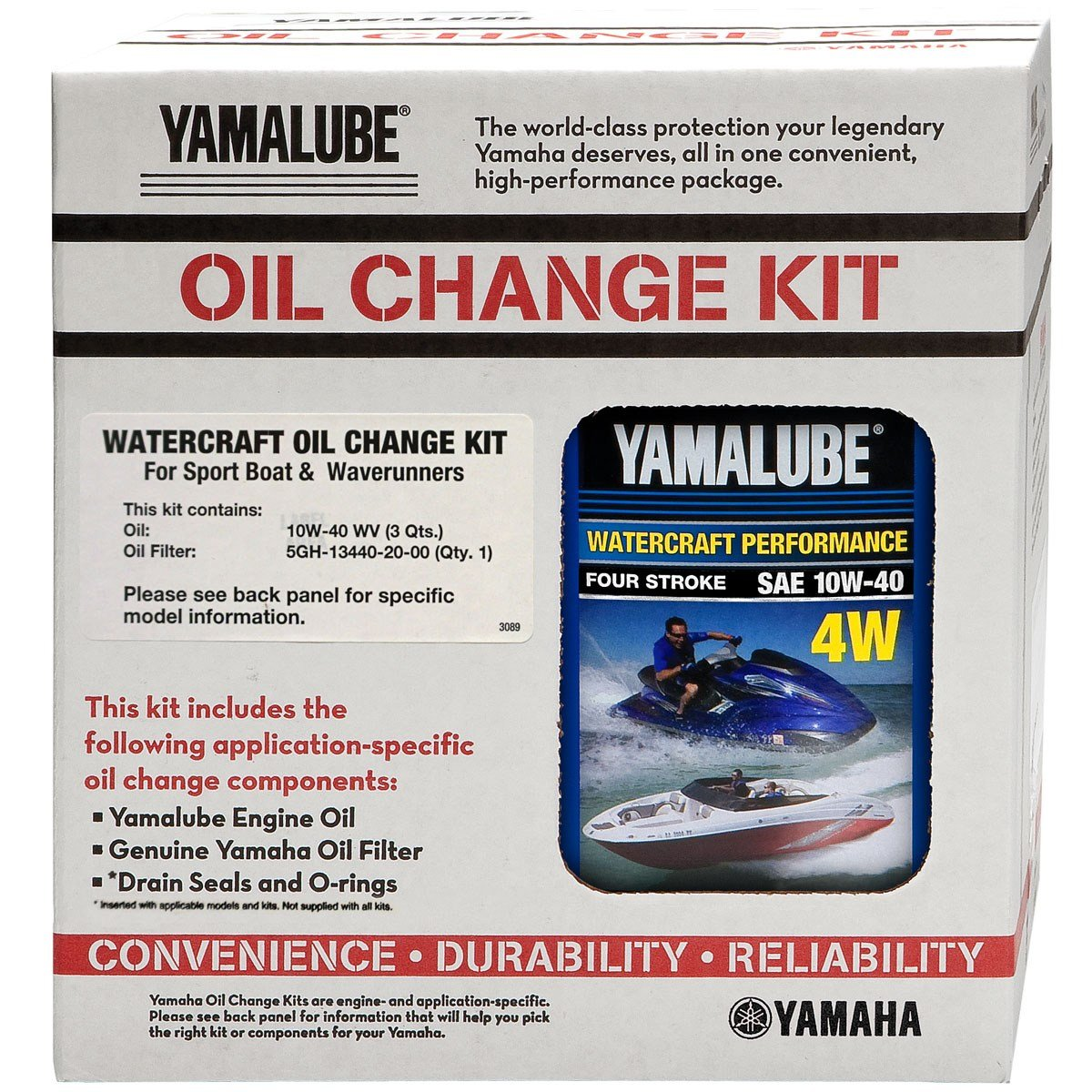 Yamaha OEM 2002-2008 FX/FX Cruiser/FX HO/FX Cruiser HO Oil Change Kit - LUB-WTRCG-KT-00 by YAMAHA