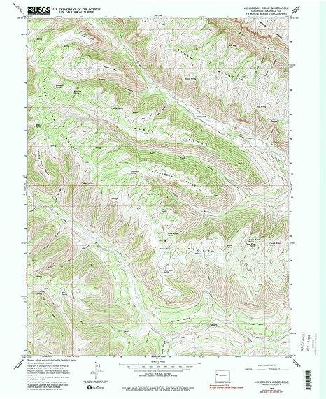 Amazon Com Yellowmaps Henderson Ridge Co Topo Map 1 24000 Scale