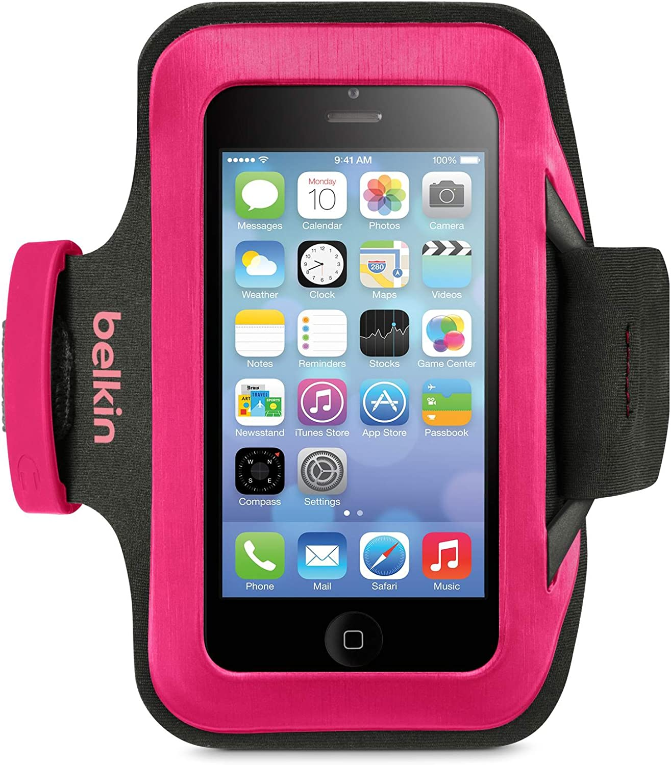 Belkin Slim-Fit Armband for iPhone 5, 5S, 5C and iPod touch 5G - Retail Packaging - Sorbet