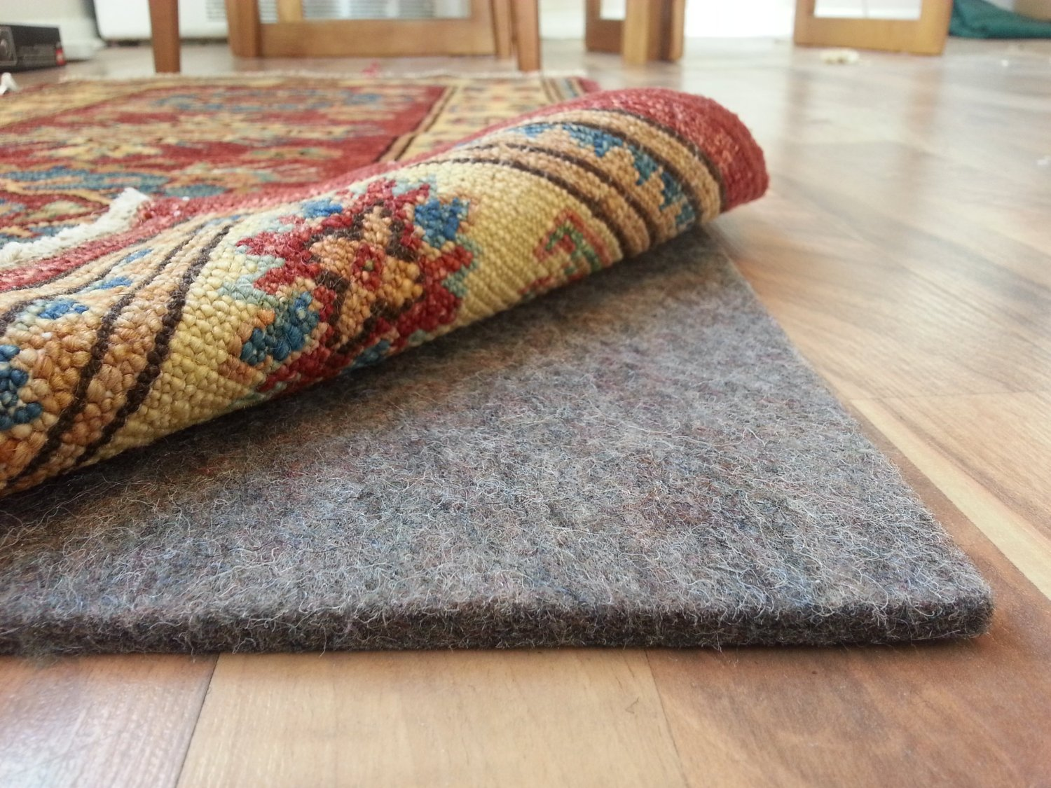 100% Felt Rug Pad - SAFE for all floors - Extra Thick - 5' x 7' - Add Cushion, Comfort and Protection Shaw COMINHKR062200