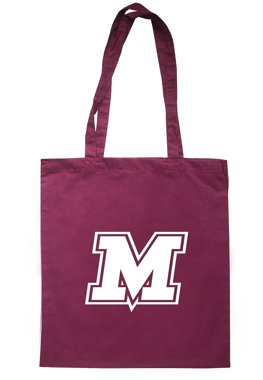 illustratedidentity Alphabet - M Tote Bag 37.5cm x 42cm with long handles TB0723-TB-NV