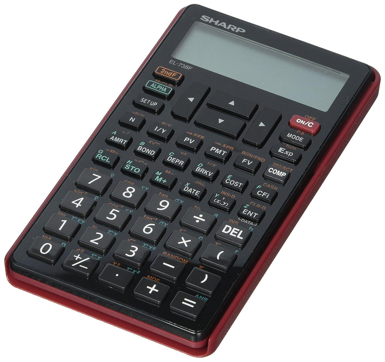 Sharp 10-Digit Financial Calculator, LCD, 3-1/4x5-7/8x1/2, BK (EL-738FB) SHREL738FB