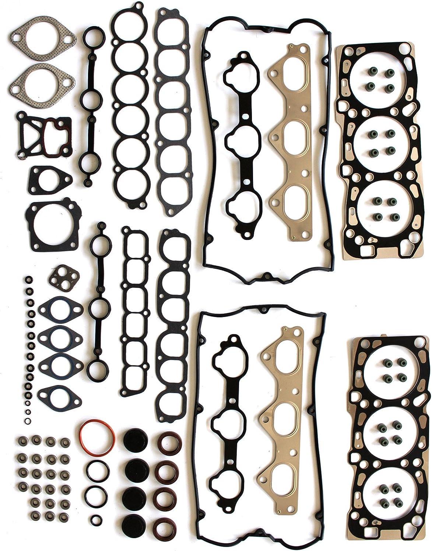 Evergreen HSHB5051 Head Gasket Set Head Bolts Fit 02-06 Hyundai Santa Fe XG350 Kia Amanti 3.5L 24V G6CU