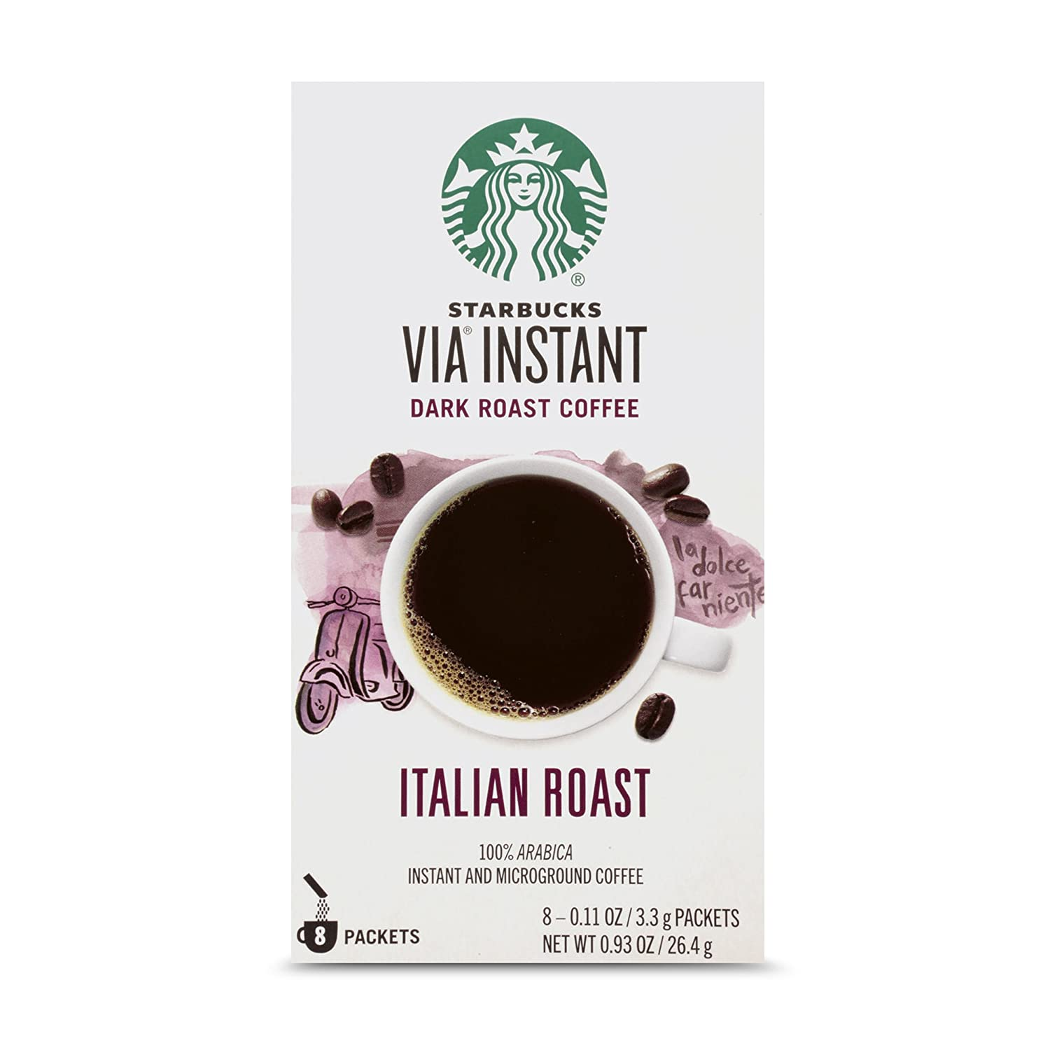 Starbucks VIA Instant Caffè Mocha Latte (1 box of 5 packets) Starbucks Coffee 011030929