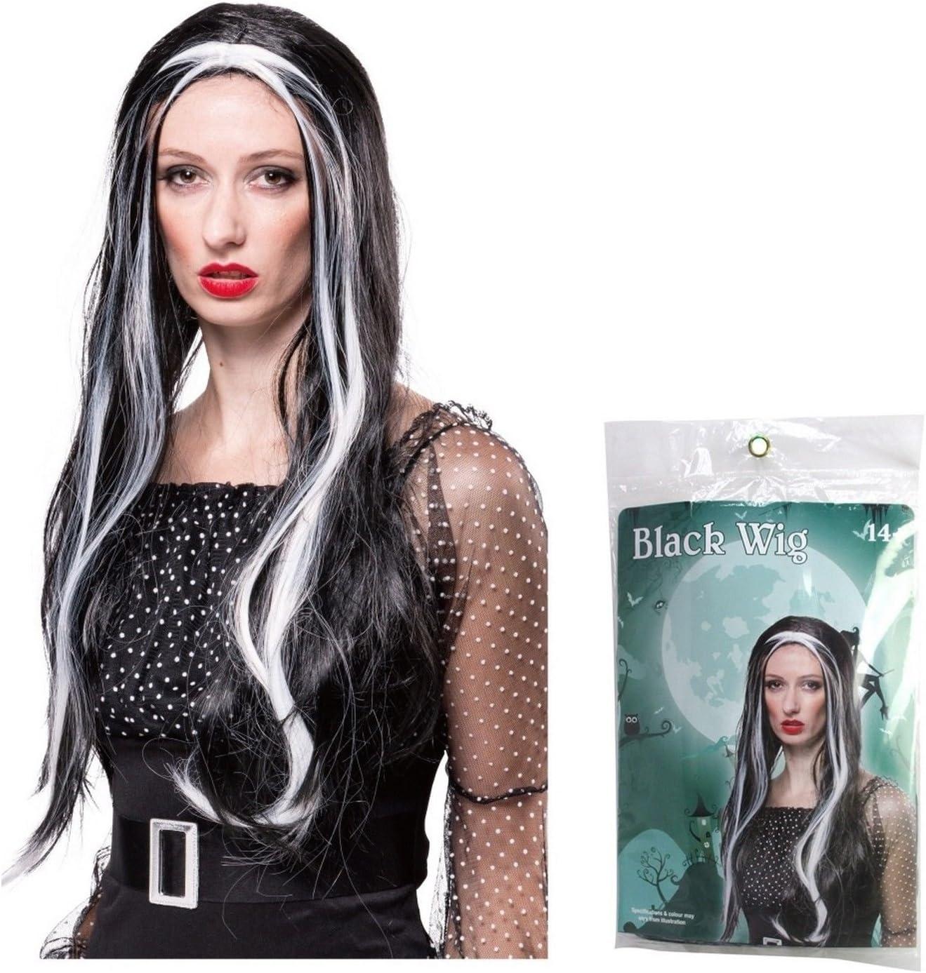 24 de cabello de adultos peluca larga de bruja Halloween disfraz ...