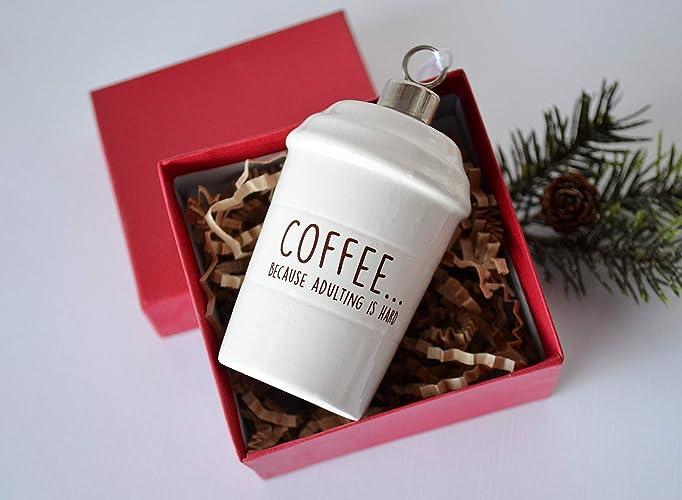 Amazon.com: Coffee Mug Ornament, Girlfriend Gift, Funny Christmas ...
