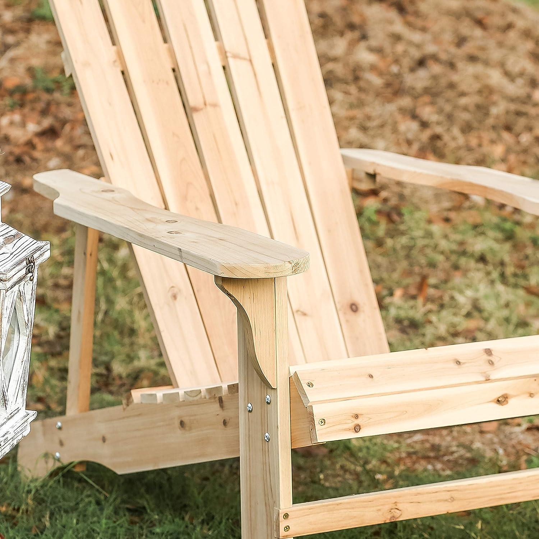 Amazon.com: Patio Festival Wood Adirondack Lounger Chair ...