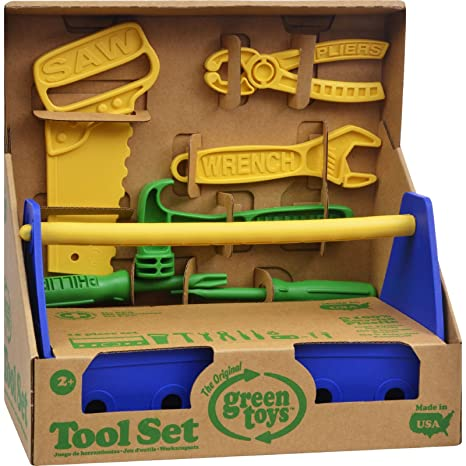 6a59aa27c0ad Image Unavailable. Image not available for. Color  Green Toys Tool Set -  Blue ...