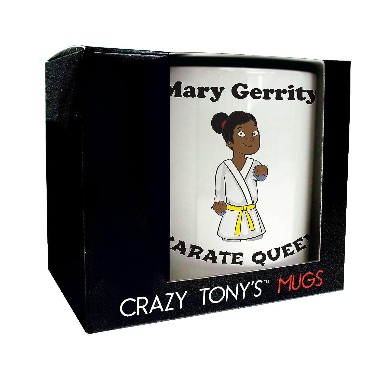 Ladies Karate Mug Crazy Tony/'s Ladies Karate Gifts Ladies Fun Karate Presents
