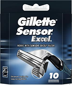 50-Count Gillette Sensor Excel Shaving Cartridges for Men