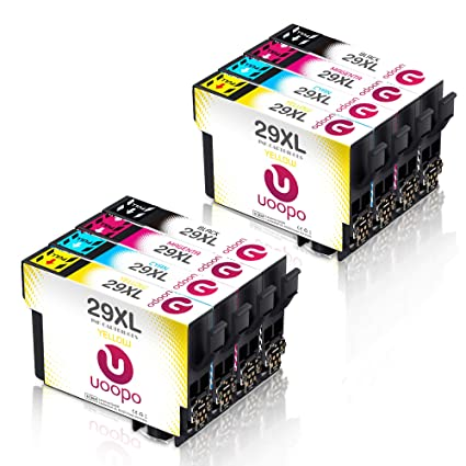 Uoopo 29XL Alta Capacidad Cartuchos de tinta para Epson 29 ...