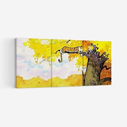 Amazon Com Astoriagears Calvin And Hobbes 3 Piece 3 Panel