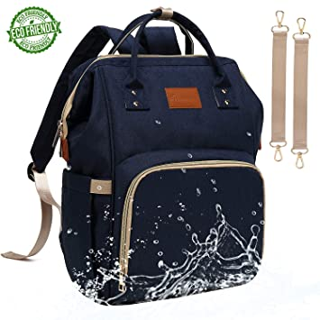 d08cbe07b279 Baby Diaper Bag Backpack – Large Diaper Backpack for Mom Dad with Stroller  Straps