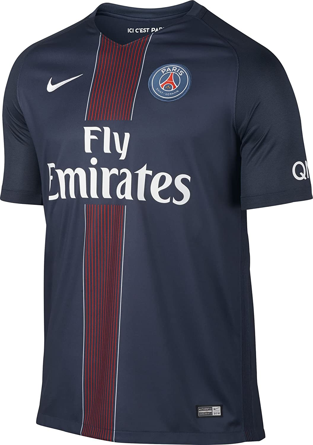 pretty nice e3d38 4814e Nike Paris Saint Germain 2016/2017 Home Soccer Jersey (Midnight Navy)