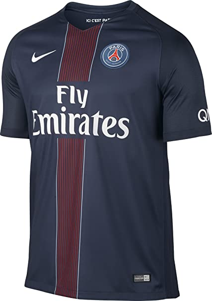 pretty nice 5a89e 63337 Nike Paris Saint Germain 2016/2017 Home Soccer Jersey (Midnight Navy)