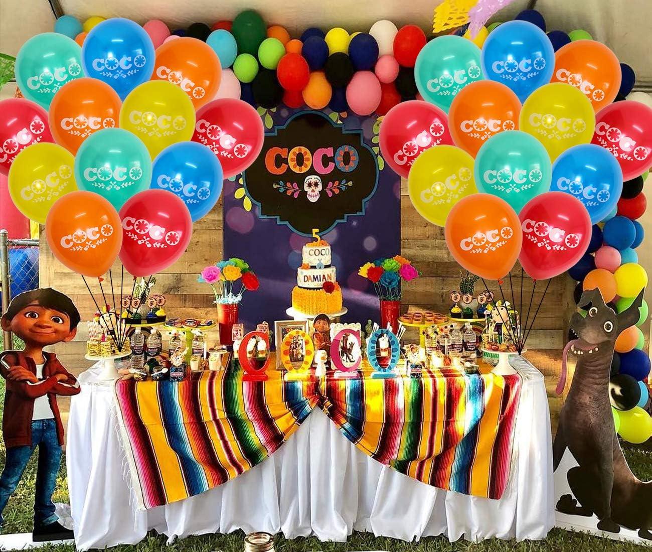 Amazon.com: 30pcs Coco Látex Globo Feliz Cumpleaños ...