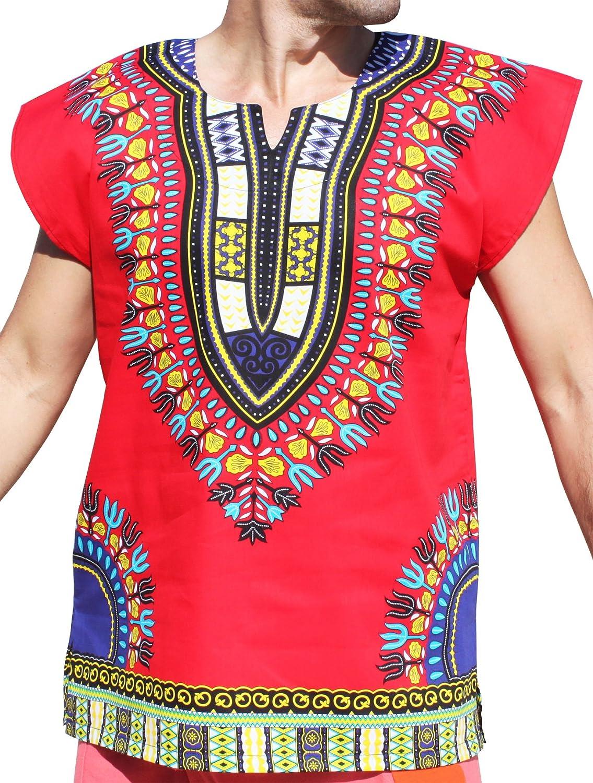 e04f144d2d9 RaanPahMuang Brand Unisex Bright Cotton Africa Dashiki Afrikan ...