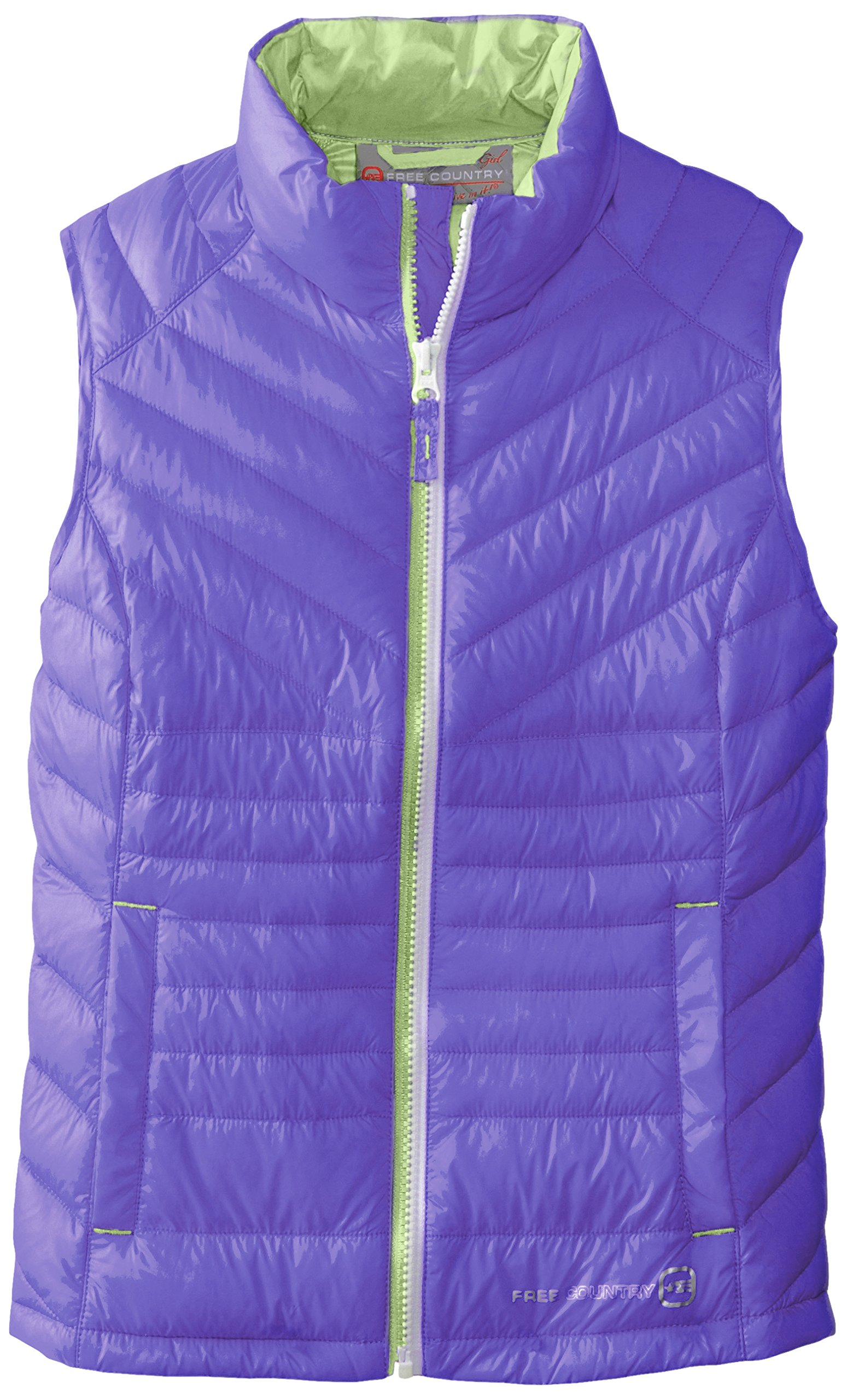 Free Country Big Girls'  Down Vest, Violet/Bluish, Medium by Free Country