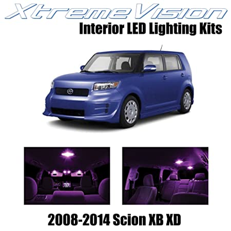 img buy XtremeVision Interior LED for Scion XB XD 2008-2014 (12 Pieces) Pink Interior LED Kit + Installation Tool