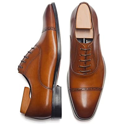 Alipasinm Men's Oxford Formal Comfortable Dress Shoes Genuine Leathers | Oxfords