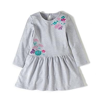 13803fe94 Amazon.com  Little Girl Pajama Set Long Sleeve Flower Nightgowns Big ...