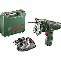 Bosch EasySaw 12 - Sierra multiuso a batería (12 V, Power for all, Cargador, Hoja de sierra, Maletín, 2,5 Ah, Sistema SDS)