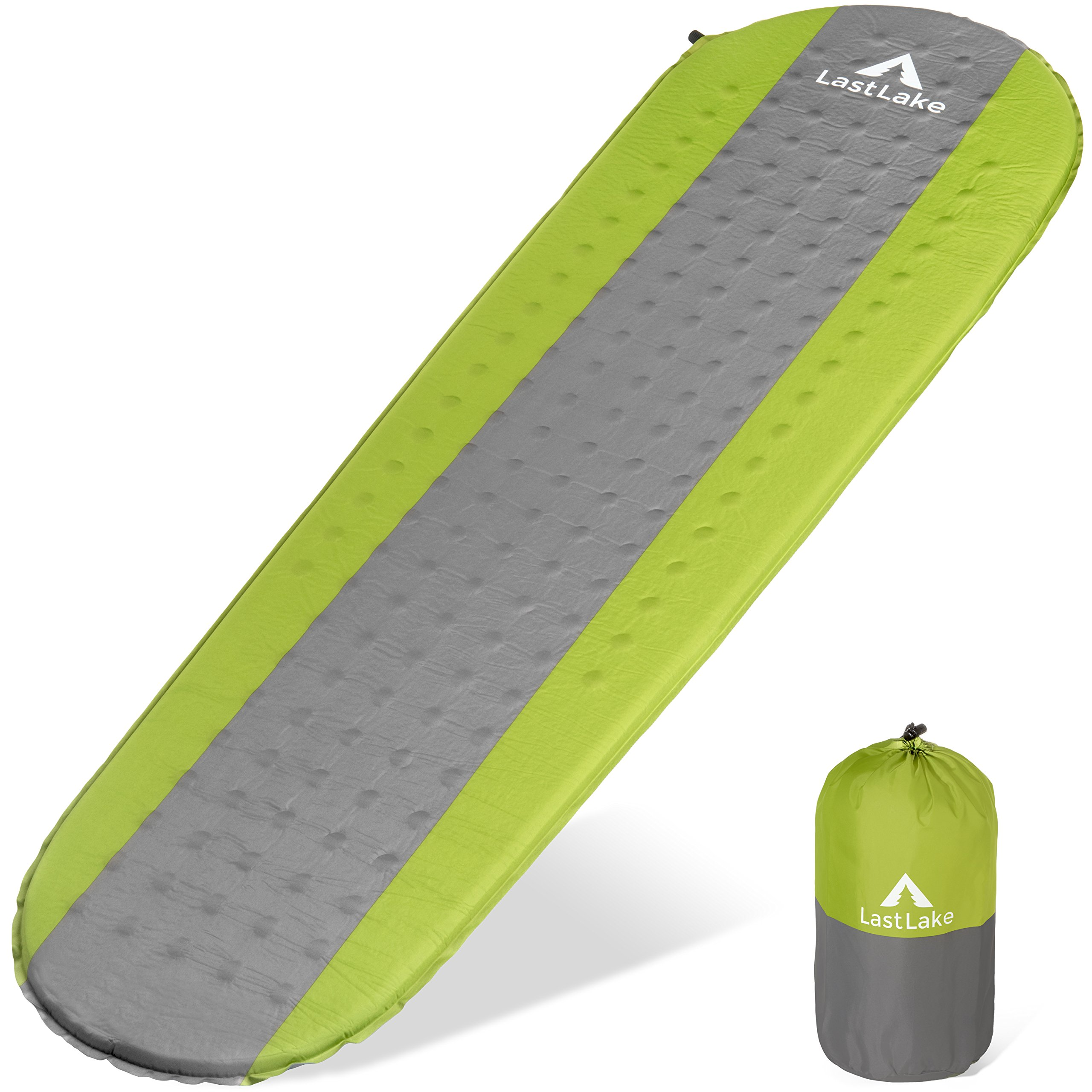 Camping Sleeping Pad - Self Inflating Mats - Lightweight, Thick Foam Layer, Insulated - Inflatable Pads Will Not Leak Air - Backpacking, Hiking by Last Lake