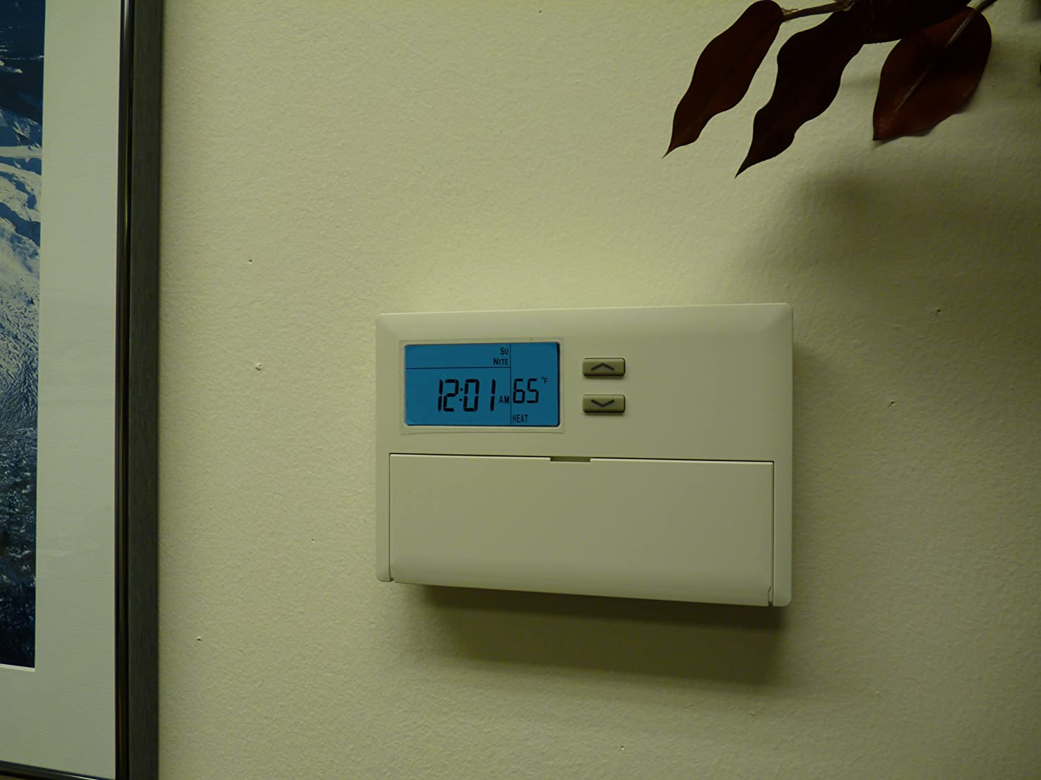 Lux TX9100E 7 Day Universal Programmable Thermostat - Locking Thermostat -  Amazon.com