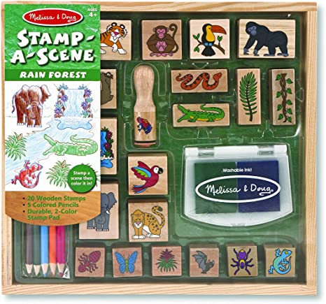 NEW!! Stamp-a-Scene Rainforest Melissa and Doug 12423