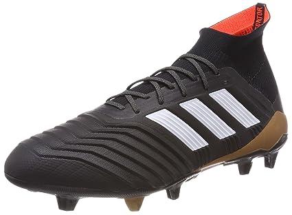 adidas Predator 18.1 FG Football Boots - Adult - Black/White/Solar Red -