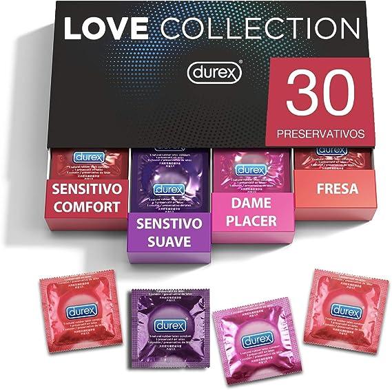 Durex - Preservativos Love Collection sabor fresa, dame placer ...