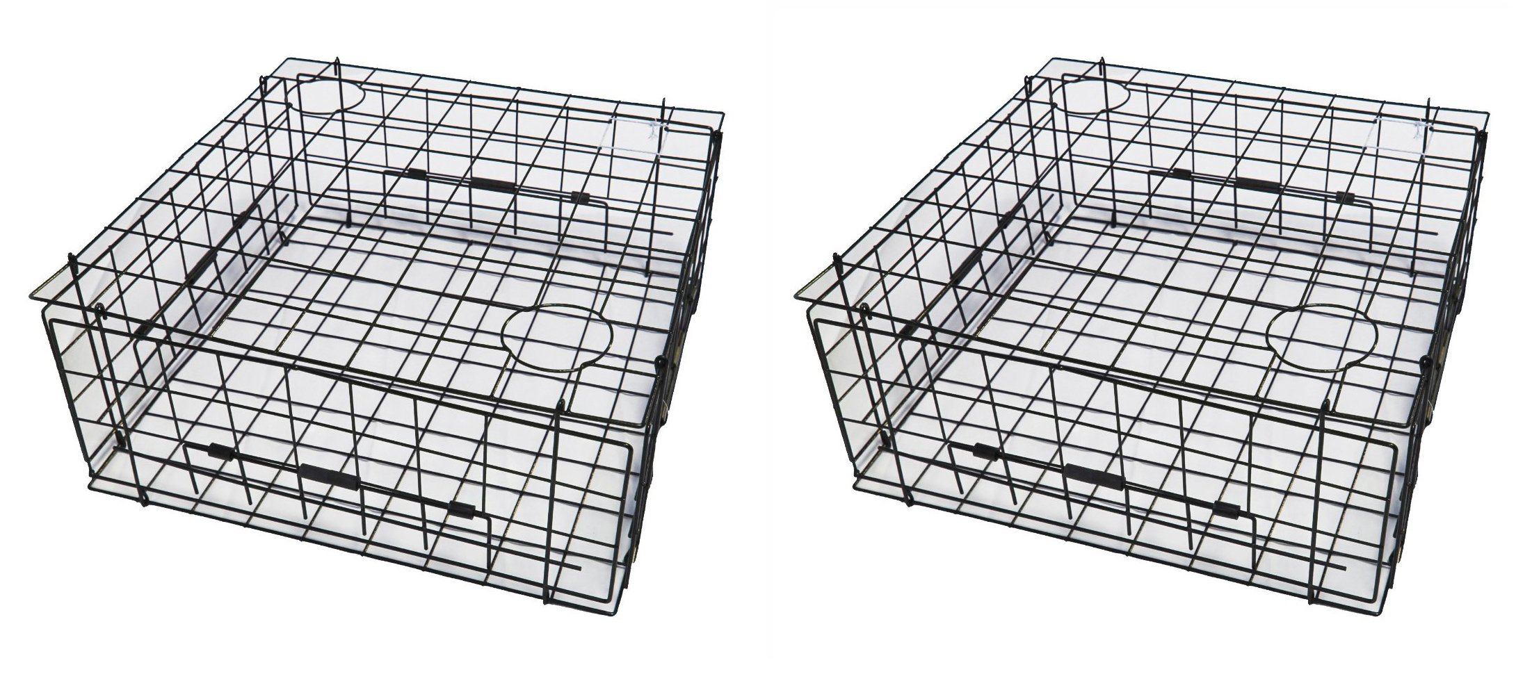 2-Pack of KUFA 28'' Vinyl Coated Square Crab trap with Top open door (28''x28''x12'') S70x2