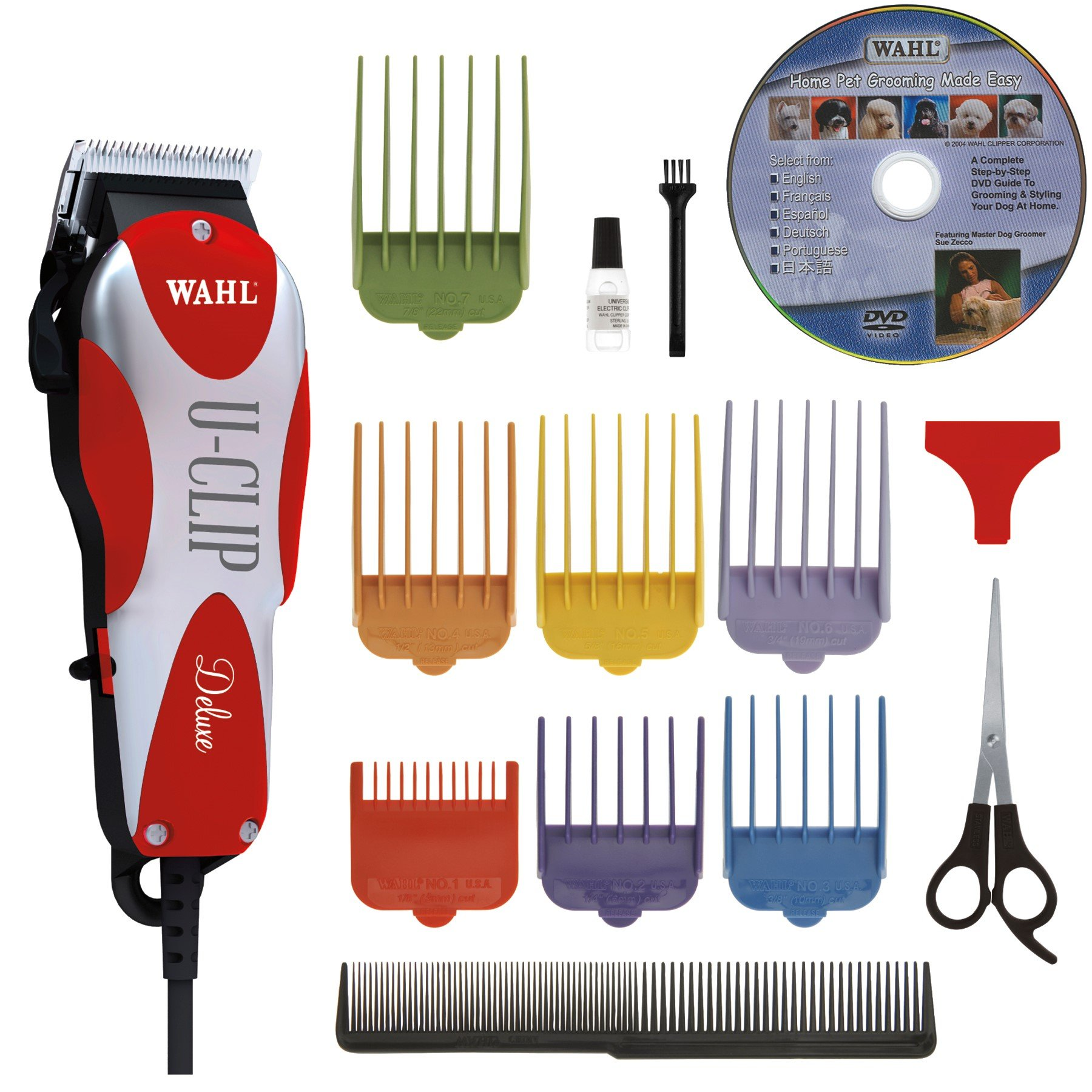 Wahl Professional Animal Deluxe U-Clip Pet Clipper and Grooming Kit (#9484-300)