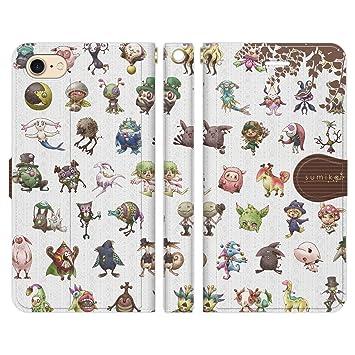 9274a6e97e Amazon | iPhone8 iPhone7 手帳型 ケース カバー sumika characters 01 ...