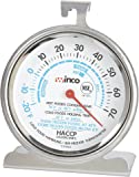 Winco Dial Refrigerator/Freezer Thermometer with Hook and Panel Base, 3-Inch