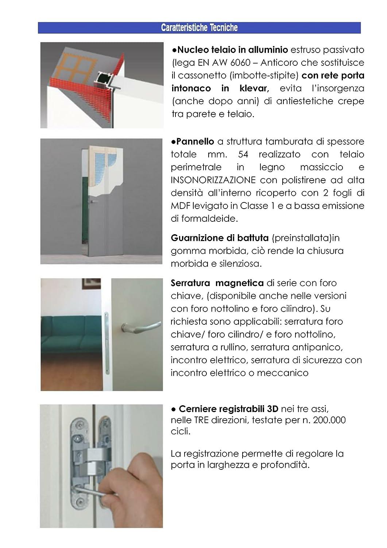 Porta Raso Muro Filo Muro l\' invisibile - Tipologia spingere/tirare ...