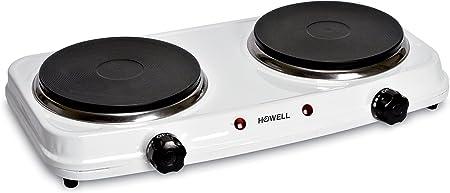 Howell HO.HPX182 Mesa Hornillo eléctrico / - Placa (Mesa, Hornillo eléctrico/Placa eléctrica, Blanco, 1000 W, 15,5 cm, 1000 W)