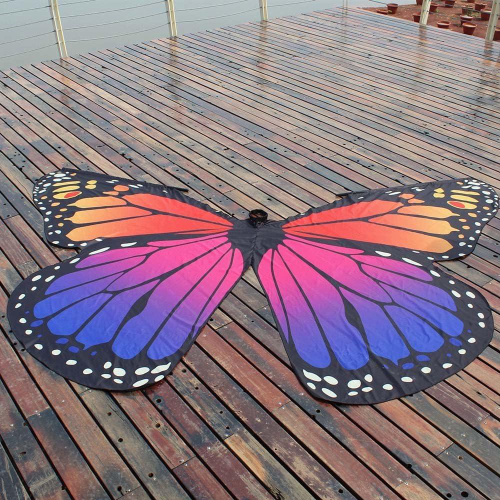 LILICAT✈✈Cape D/éguisement Femme Foulards de Ch/âle Ailes de Papillon Costume Carnaval Butterfly /Écharpes Poncho Ch/âle Foulard Echarpes Cape Ailes Papillon Nouveaut/é Shawl Costume Accessoire