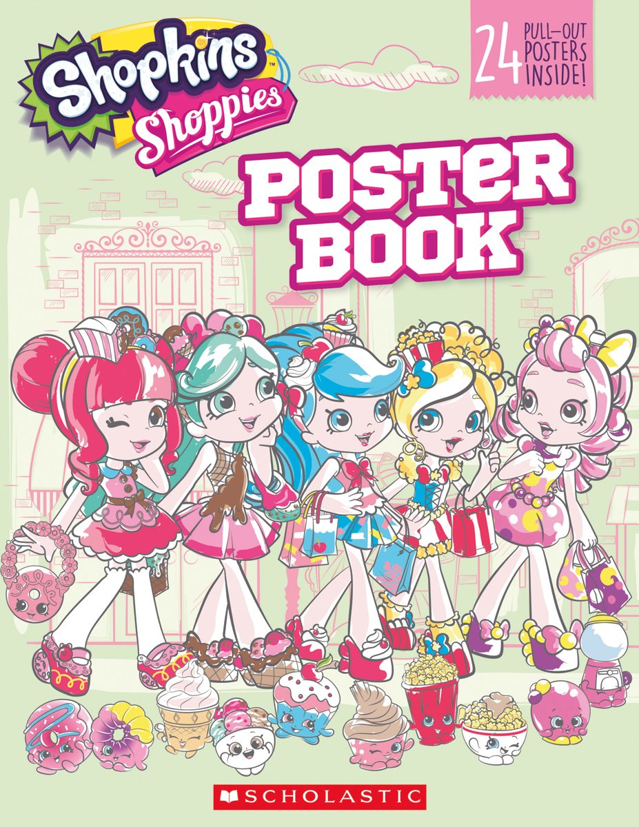 pullout poster book shopkins shoppies scholastic