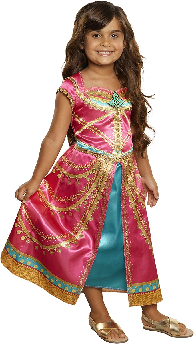 Disney Aladdin Jasmine Dress Costume Pink Fuchsia Outfit Toys Games