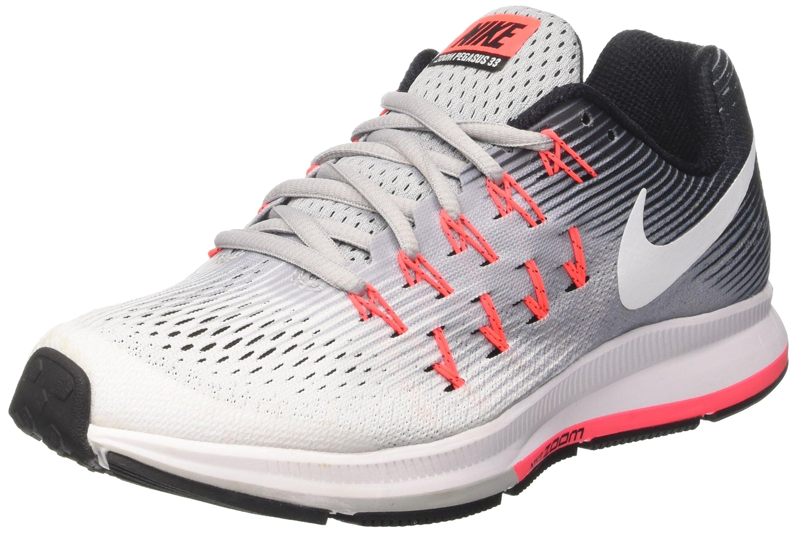 Nike Womens Air Zoom Pegasus 33 Wolf Grey/White/Black Running Shoe 5 Women US