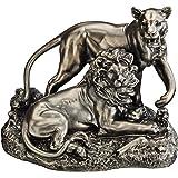 Design Toscano Löwe und Löwin: Ehrenplatz, Tierstatue