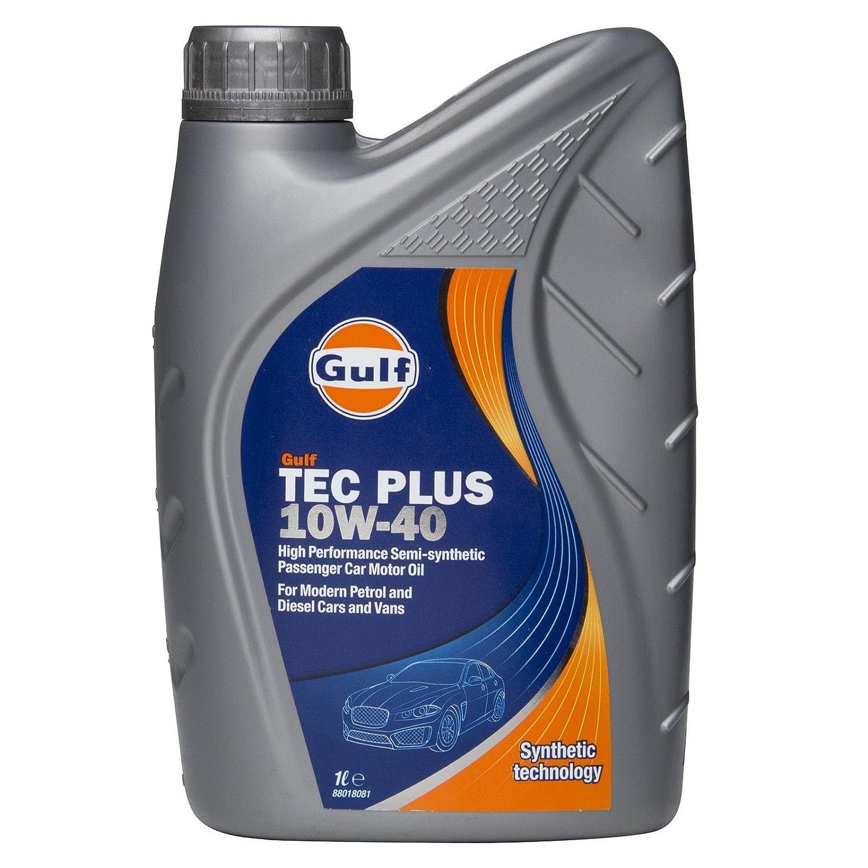Aceite de motor semisintético Golfo Tec Plus 10 W-40 de 4 litros o 1 litro: Amazon.es: Coche y moto