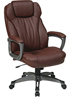 work smart ech85807 ec6 executive eco leather chair with padded arms amazoncom bestoffice ergonomic pu leather high