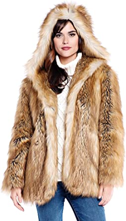 Donna Salyers' Fabulous Furs Hooded Faux Fur Jacket at